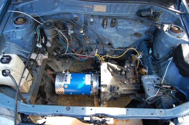 Electric vehicle toyota starlet conversion transition for Used electric motor shop equipment for sale